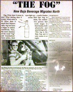 West Coast Windsurfing Baja Fog Magazine Article